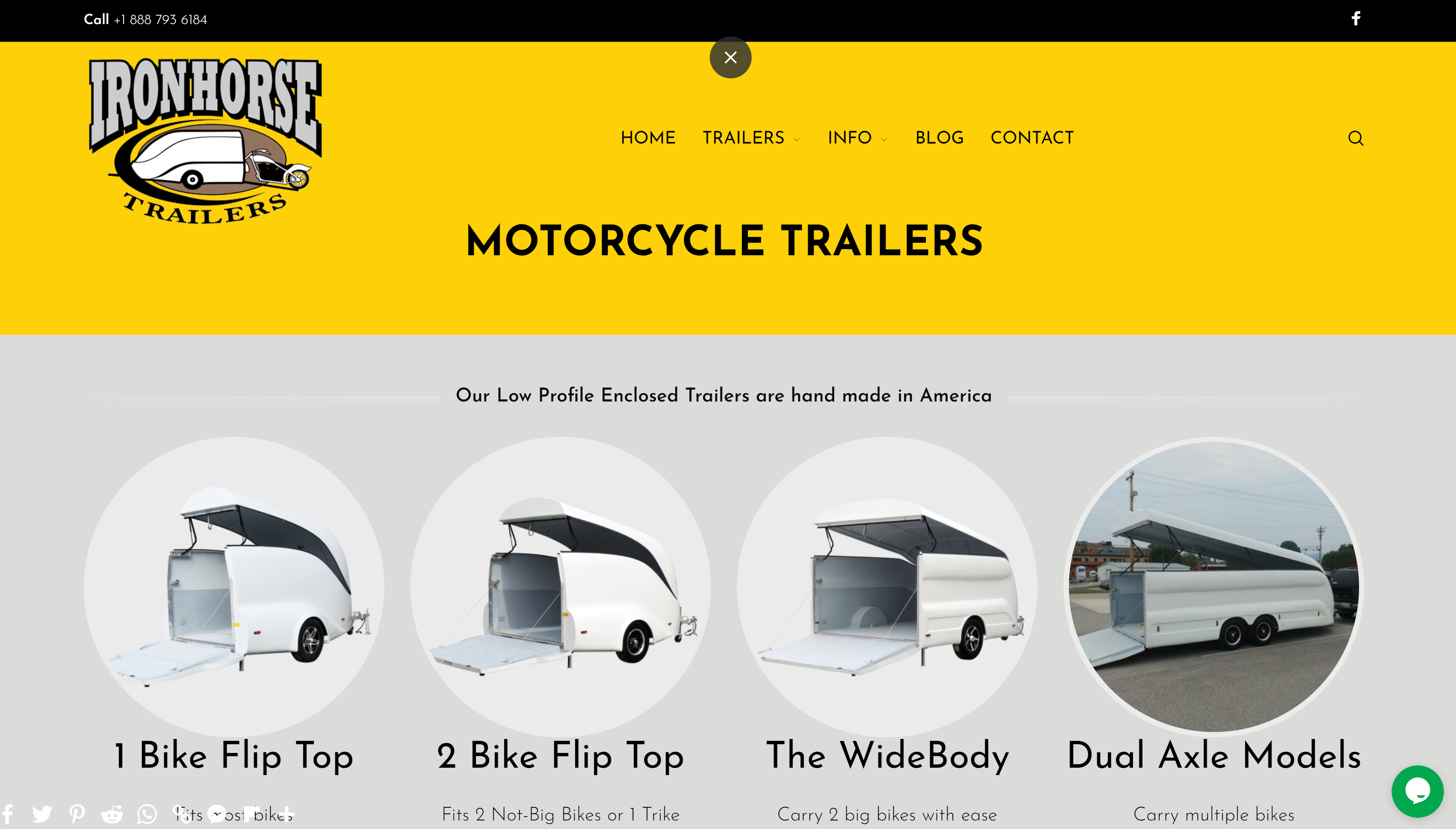 IronhorseTrailers , selling USA made motorcycle trailers